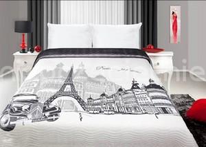 elegancka narzuta na łóżko o wymiarach 220x240